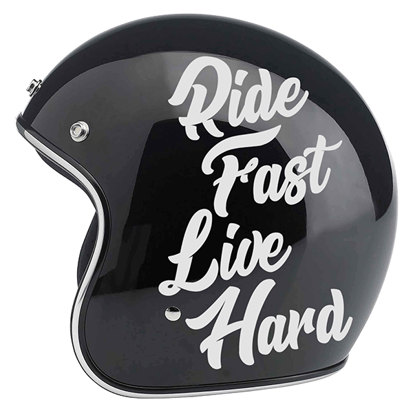 "Aufkleber ""Ride Fast Live Hard"" von Bobber Brothers"