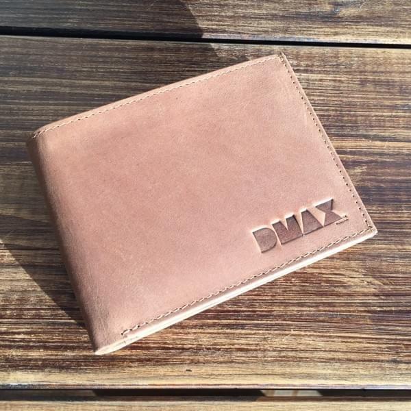 DMAX Geldbörse im Querformat aus Hunterleder