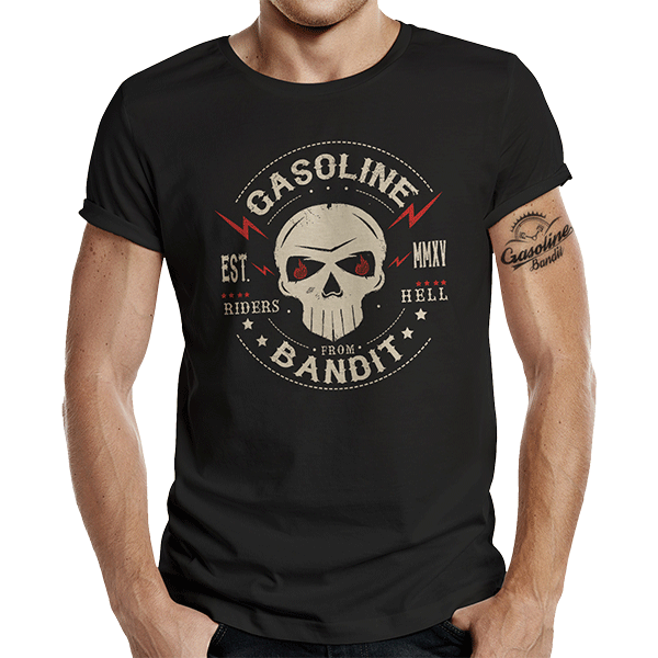 "T-Shirt ""Riders from Hell"" von Gasoline Bandit"