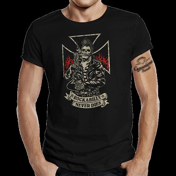 """T-Shirt """"Rockabilly ... Boner"""" von Gasoline Bandit"""