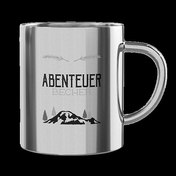 """Edelstahl Thermobecher """"Abenteuer"""""""