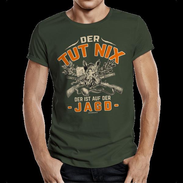 """T-Shirt """"Der tut nix – der ist auf der Jagd"""""""