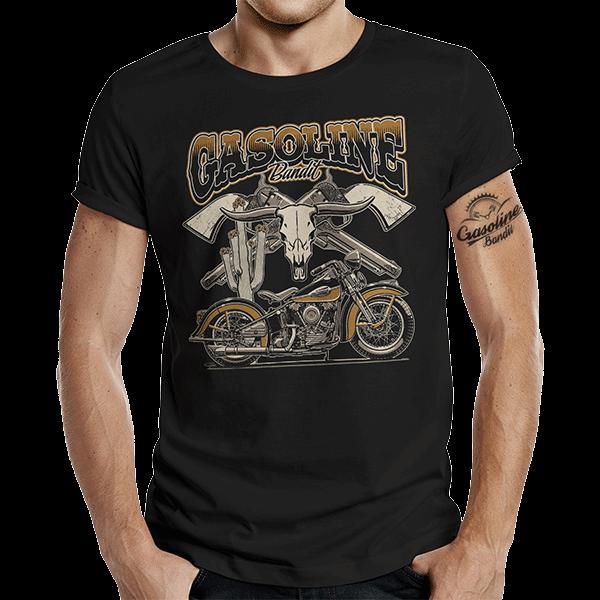 """T-Shirt """"Rockabilly Knuckle"""" von Gasoline Bandit"""