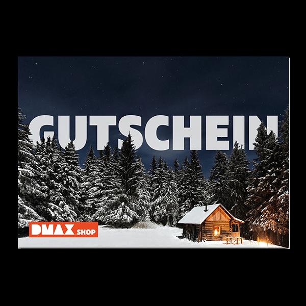 """Gutschein zum Selbstausdrucken """"Winterhütte"""""""