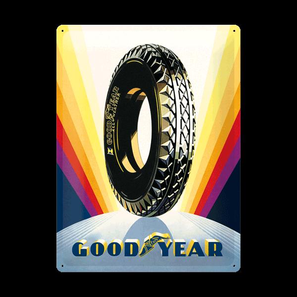 "Goodyear Blechschild ""Rainbow Wheel"""