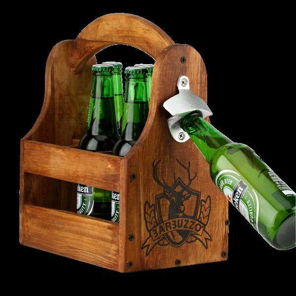 Sixpack-Träger mit Flaschenöffner