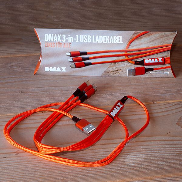 DMAX 3-in-1 USB Ladekabel