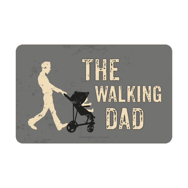 "Frühstücksbrett ""The Walking Dad"""